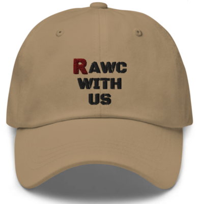 RAWC With Us - Black Font Hat