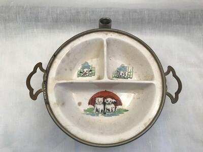 Divided baby warming dish