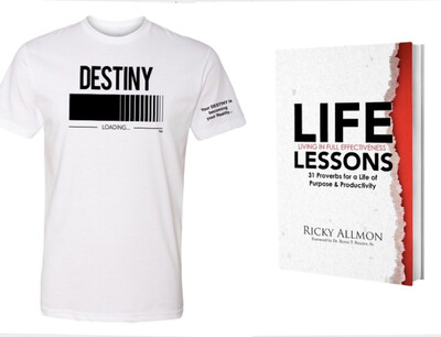 DESTINY Loading T-Shirt & LIFELessons Book BUNDLE