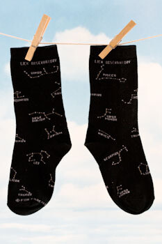 Lick Observatory Constellations Sock, Black