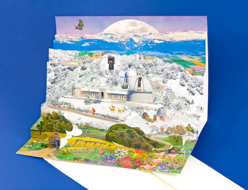 Lick Observatory Pop-Up Greeting Cards - Set of Two