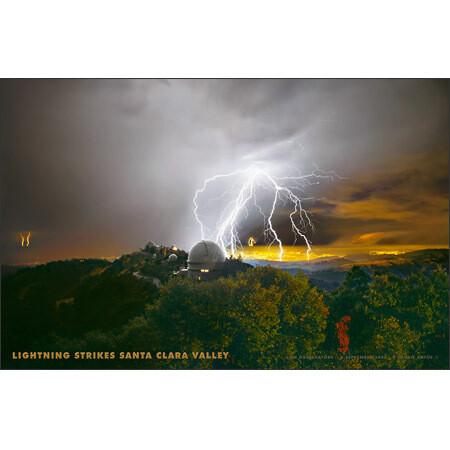 Lick Observatory Lightning Storm Poster