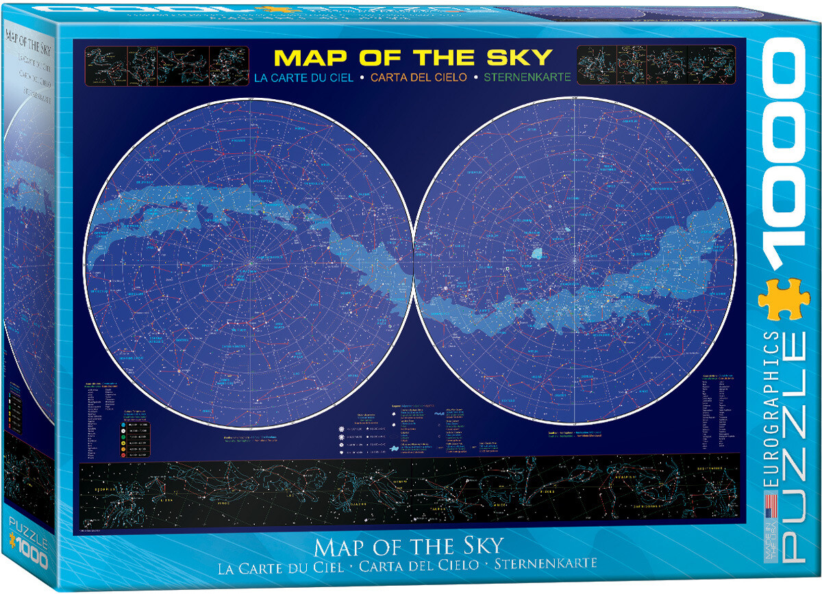 Map of the Sky -- 1000 piece Jigsaw Puzzle