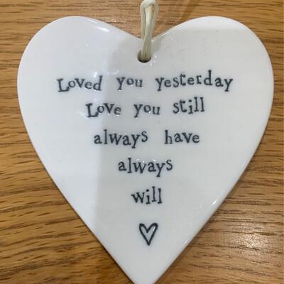 Loved yesterday heart
