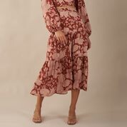 Amelius Wildflower Tiered Skirt