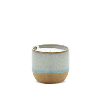 KIN Blue Artisan Soy Wax Candle - Matcha Tea and Bergamot - Small
