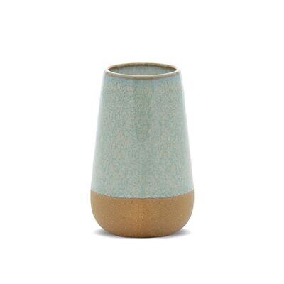 KIN Blue Ceramic Soy Wax Candle - Matcha Tea and Bergamot - Large