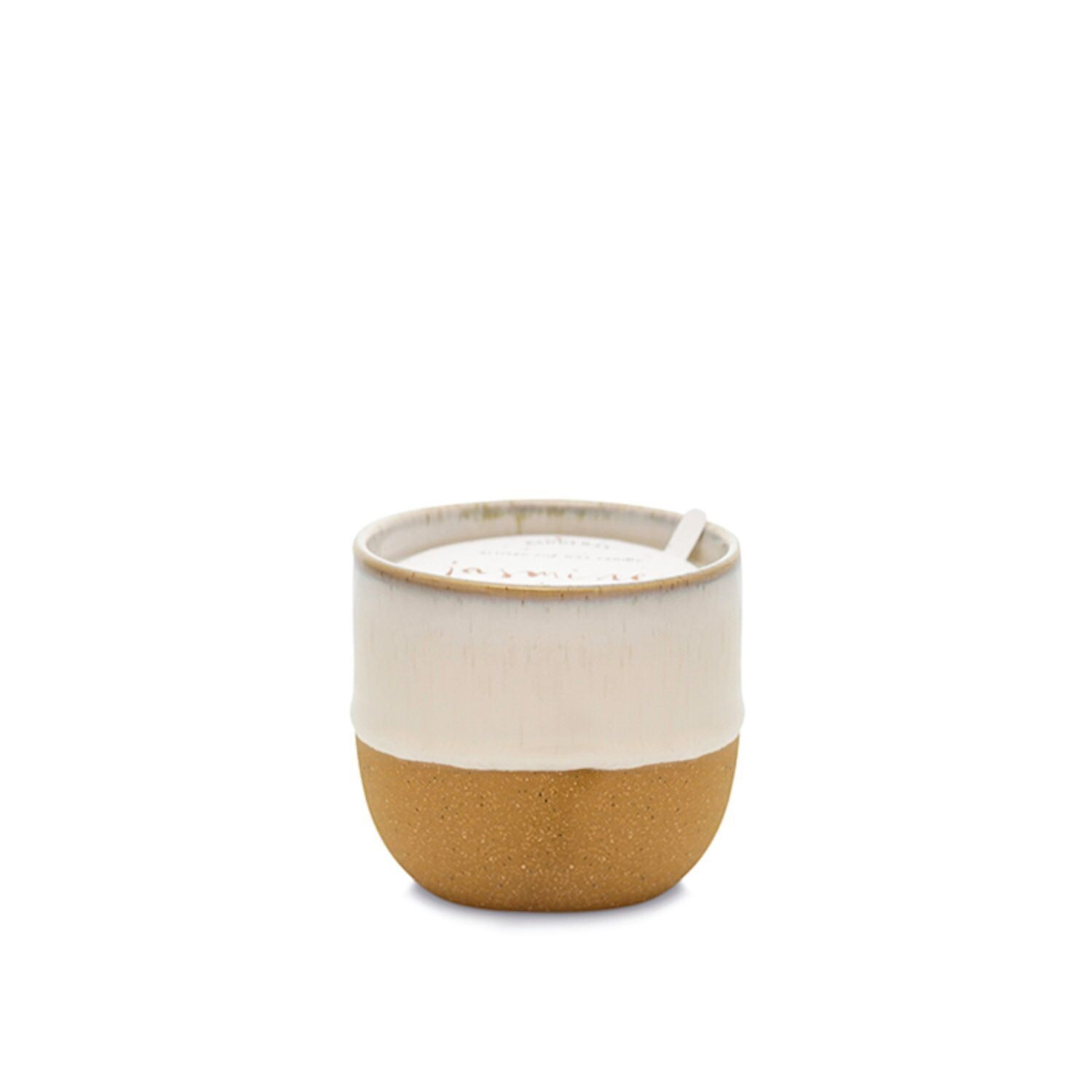 KIN White Artisan Soy Wax Candle - Jasmine and Bamboo - Small