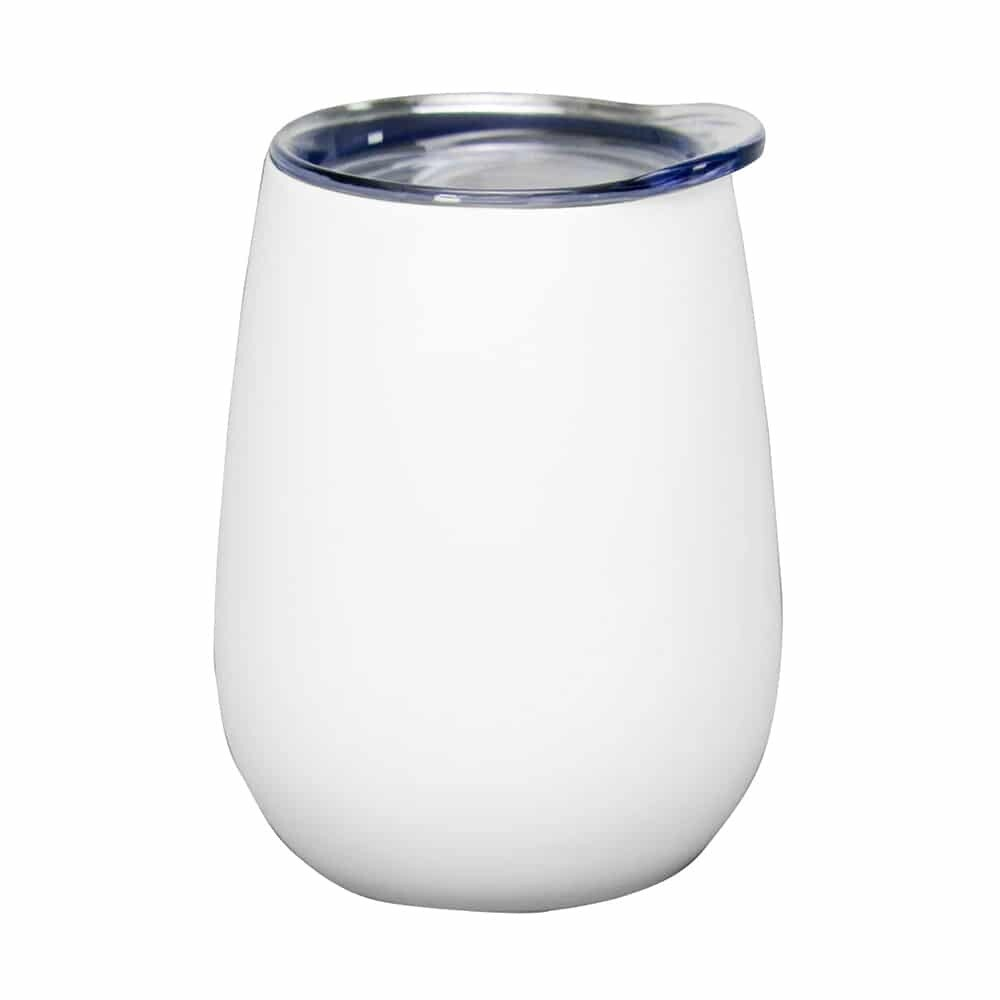 Wine Tumbler – Double Walled – Stainless Steel - Matte White