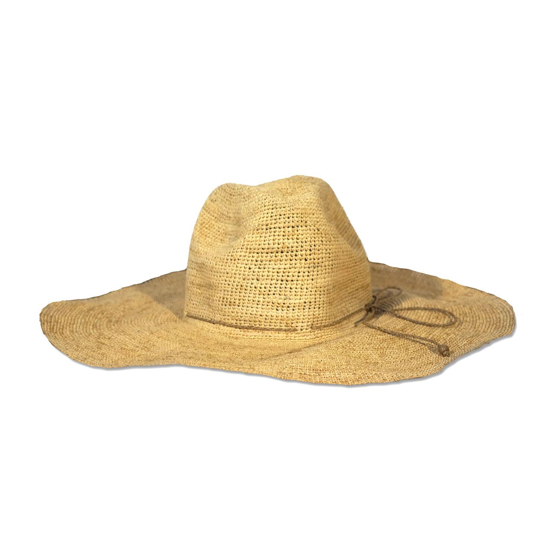 Aziz Hat - Natural - Wide brim