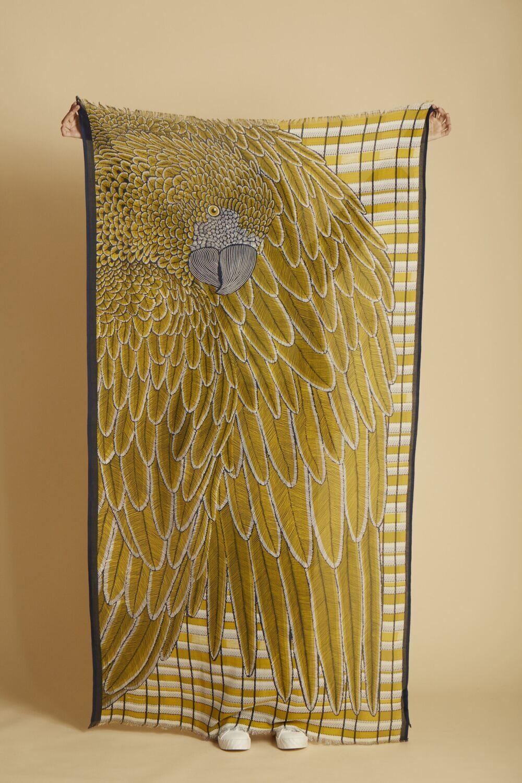 Inoui Scarf Magnifico - Golden Brown - 100% Cotton