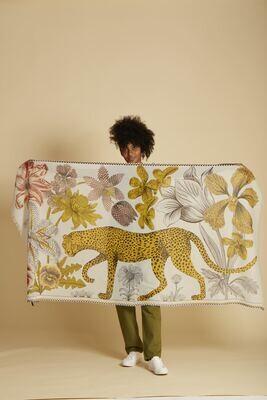 Inoui Scarf Leopard - White - 100% Cotton