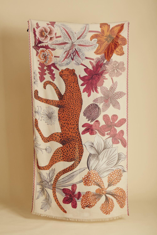 Inoui Scarf Leopard - Nude - 100% Cotton