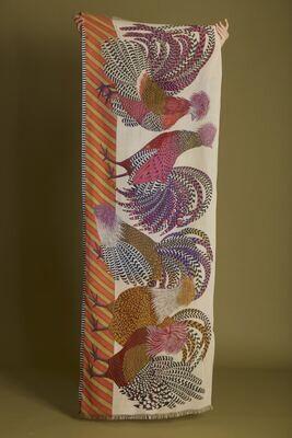 Inoui Scarf Poupoule - Pink - 100% Cotton