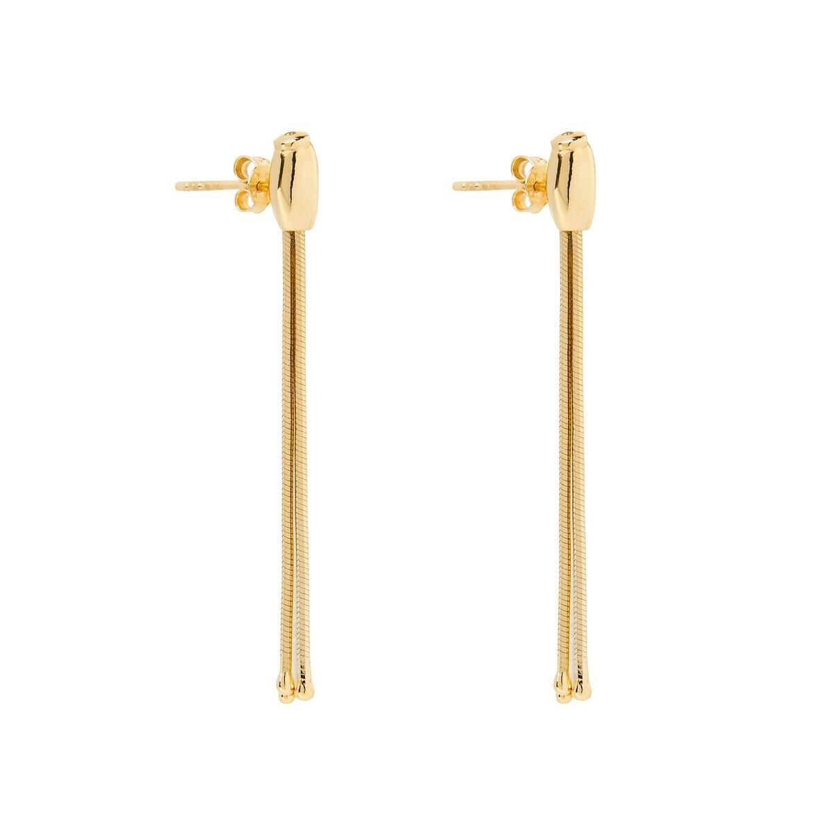 Najo - Como Yellow Gold Tassel Earring