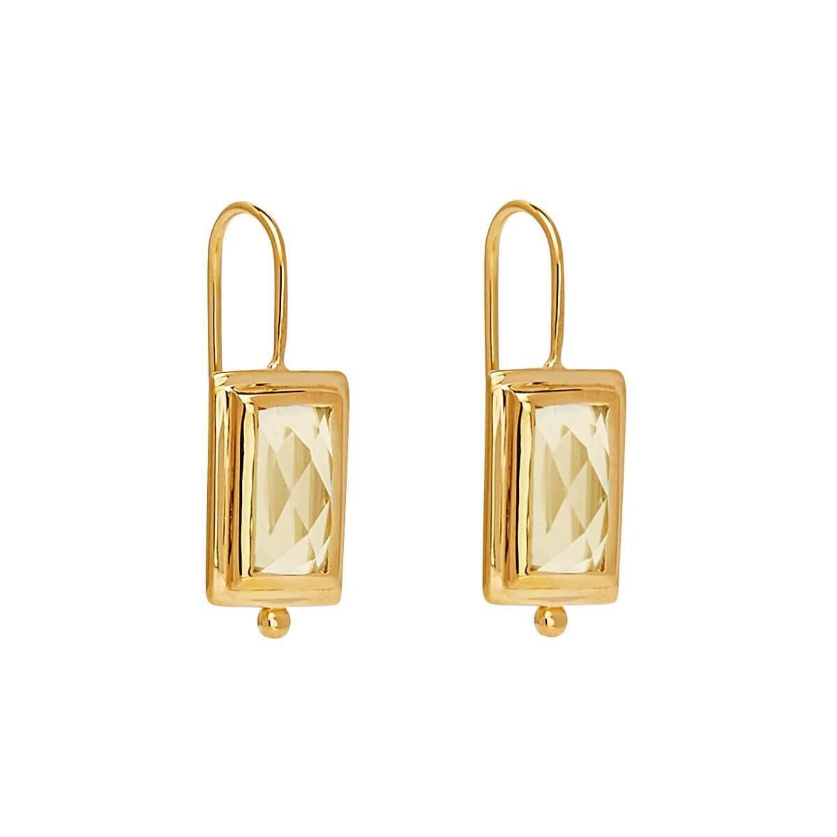 Najo - Desire Lemon Quartz Earring