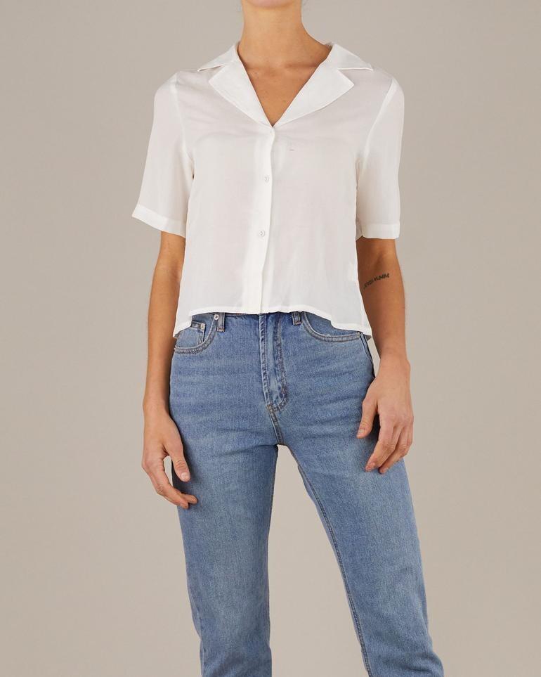 Amelius -  Elodie Bowling Shirt - White