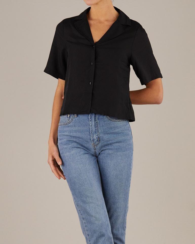 Amelius -  Elodie Bowling Shirt - Black
