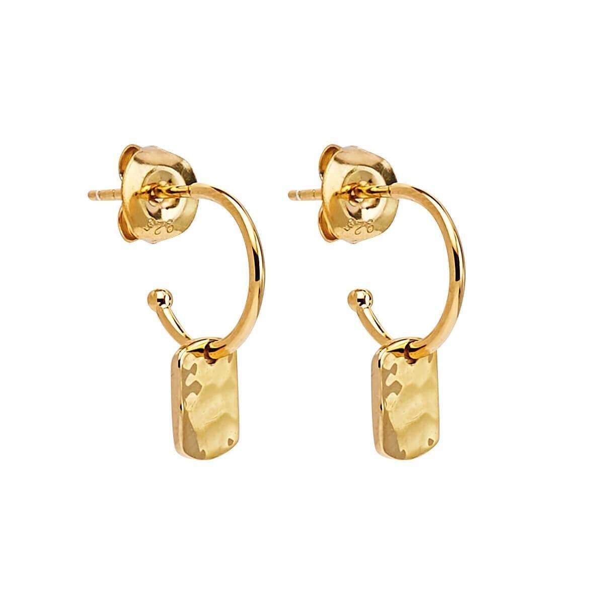 Najo - Tigger Yellow Gold Earring