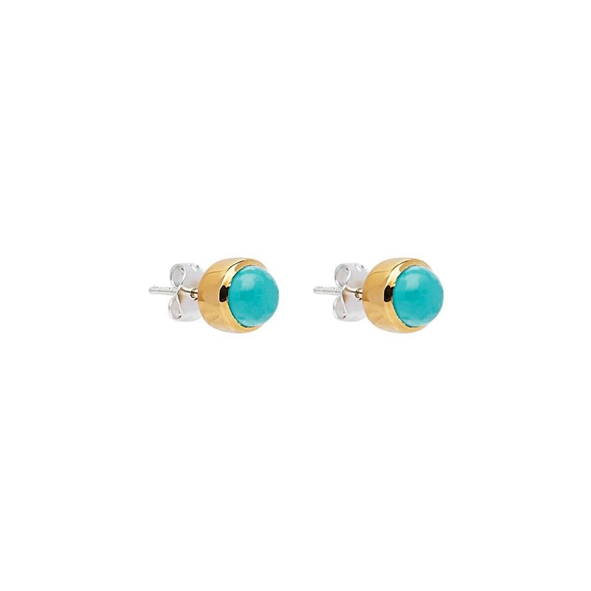 Najo - Marina Turquoise Stud Earring