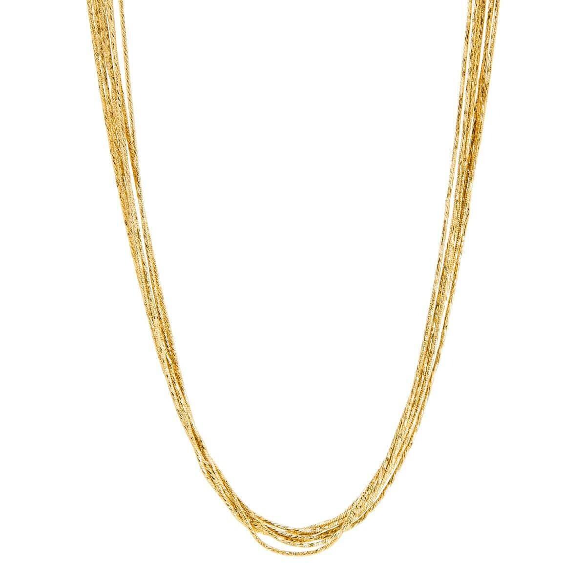 Najo - Como Multi-Strand Gold Necklace