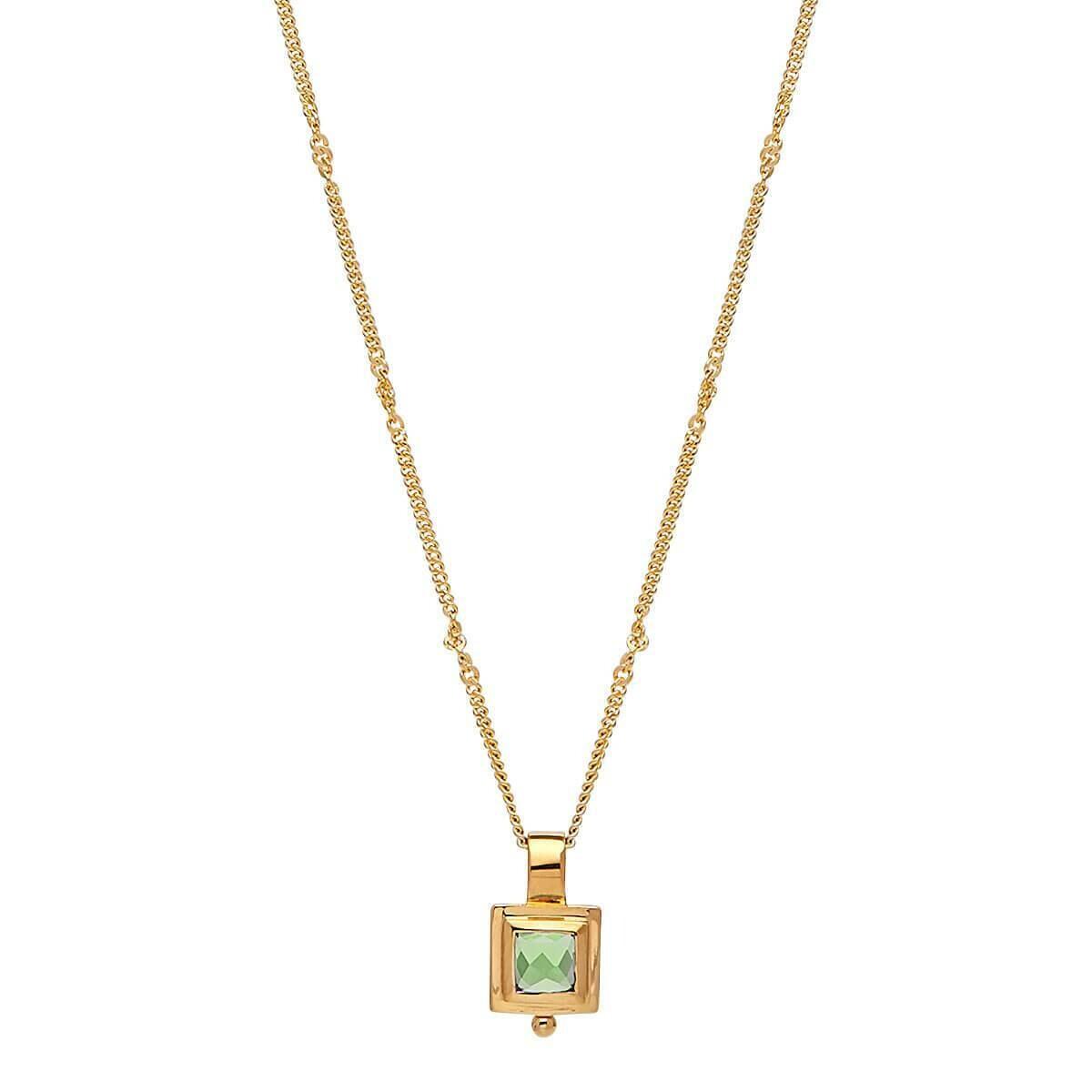 Najo - Desire Square Peridot Necklace