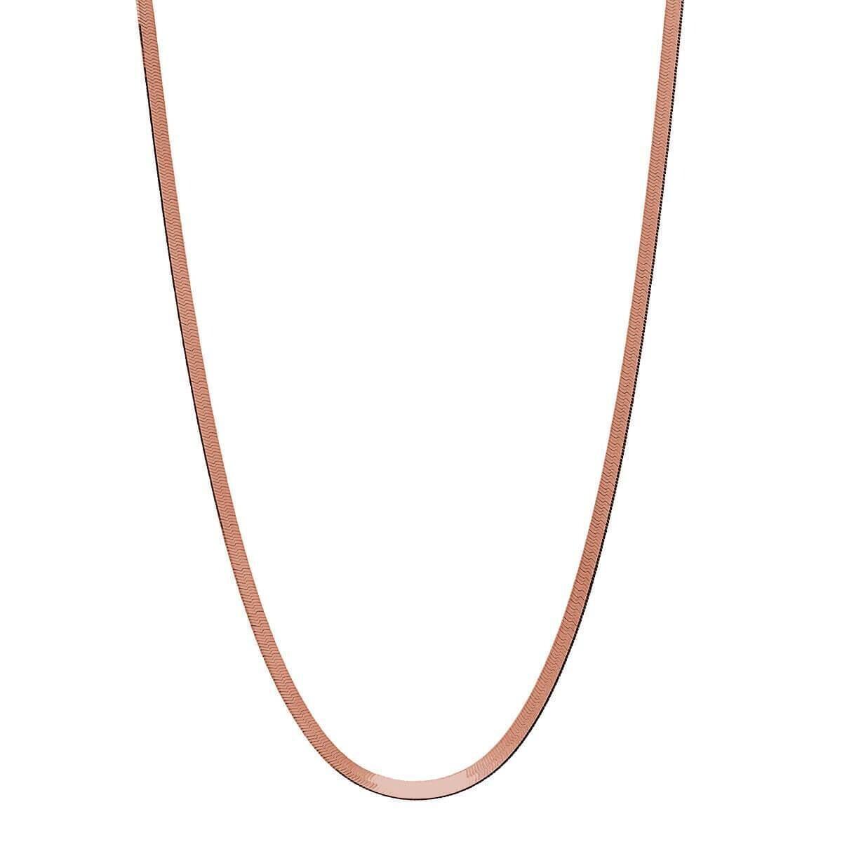Najo - Herringbone Rose Gold Necklace