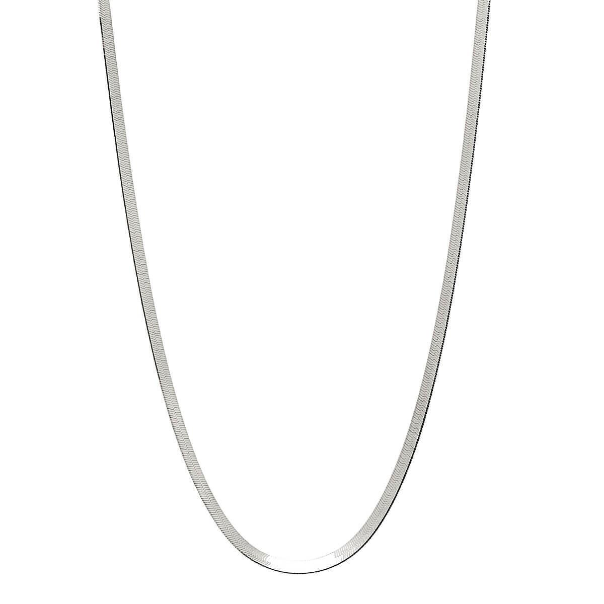 Najo - Herringbone Silver Necklace