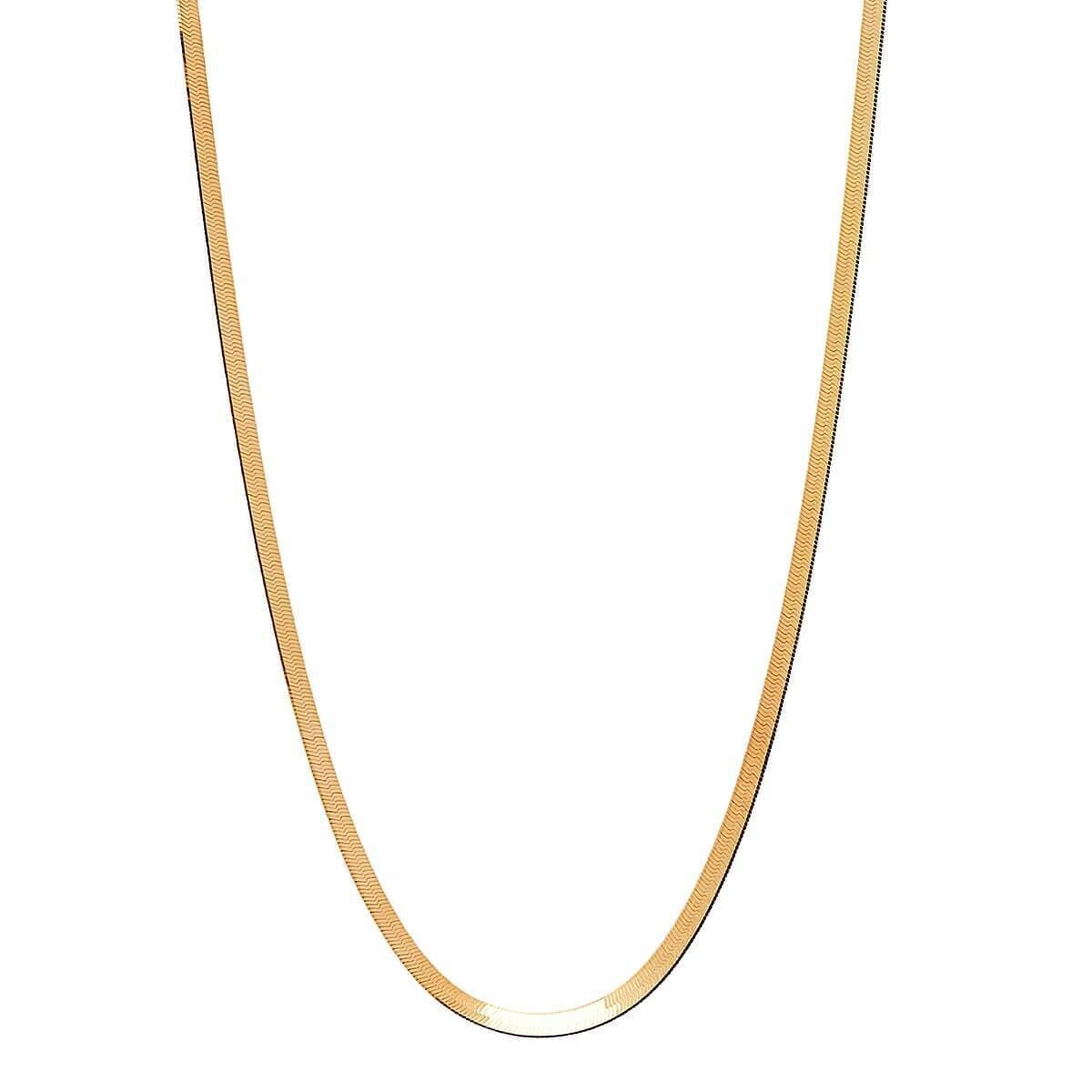 Najo - Herringbone Yellow Gold Necklace