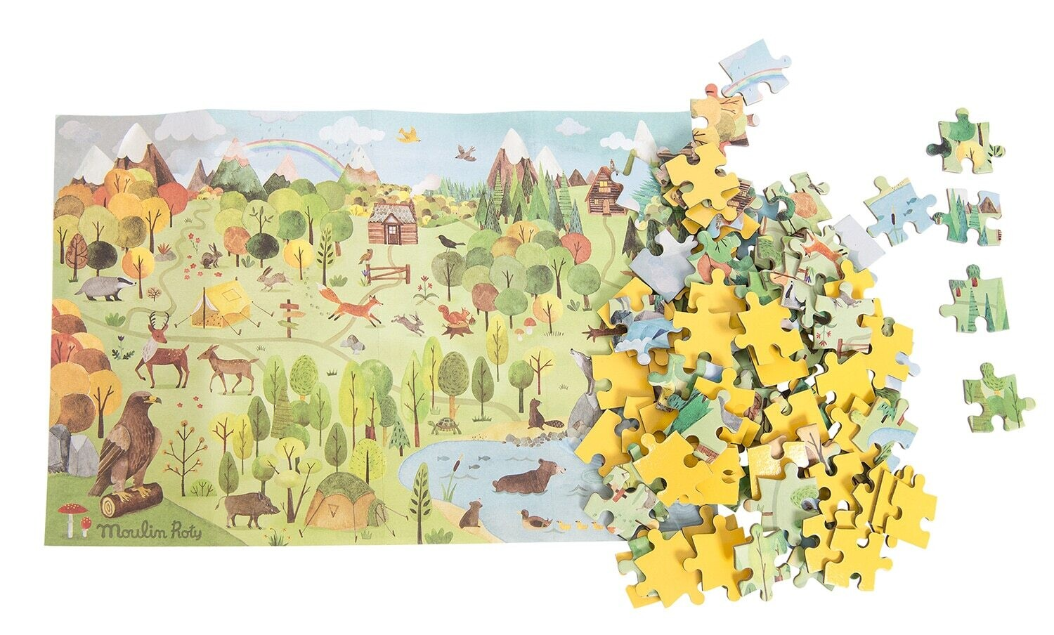 Moulin Roty - Le Jardin – forest puzzle (96 pcs)