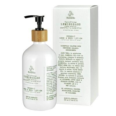 Urban Rituelle - Lemongrass, Lemon Myrtle, Grapefruit & Eucalyptus - Organic Hand & Body Lotion