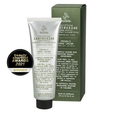 Urban Rituelle - Lemongrass, Lemon Myrtle, Grapefruit & Eucalyptus - Organic Hand Cream