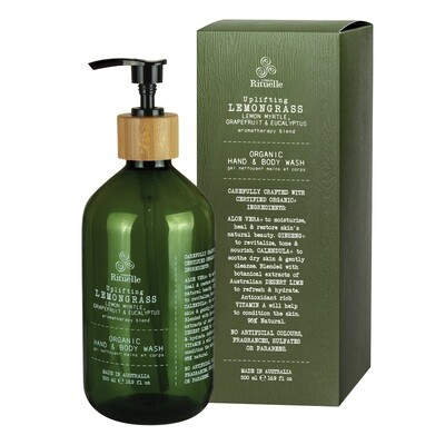 Urban Rituelle - Lemongrass, Lemon Myrtle, Grapefruit & Eucalyptus - Organic Hand & Body Wash