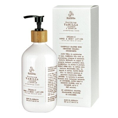 Urban Rituelle - Vanilla, Lavender & Geranium - Organic Hand & Body Lotion