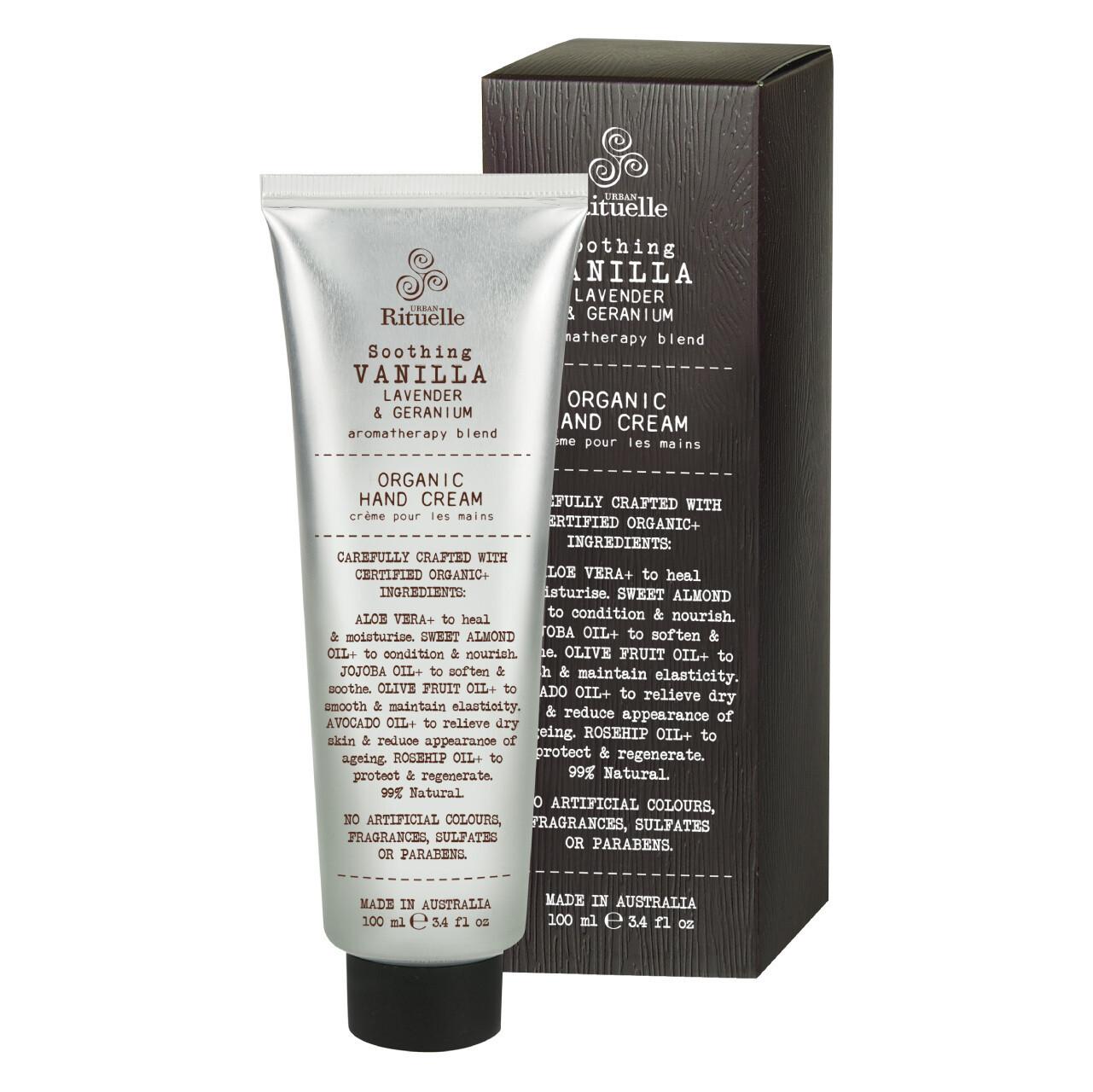 Urban Rituelle - Vanilla, Lavender & Geranium - Organic Hand Cream