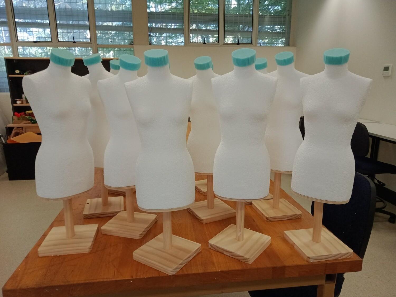 Set of 10 Half Sized Mannequins
