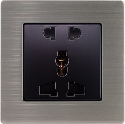 Uni power supply 5 holes with stainless steel frame (220V)