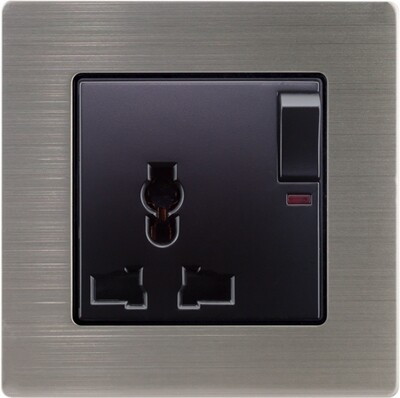 Uni power supply w Switch n stainless steel  frame (220V)