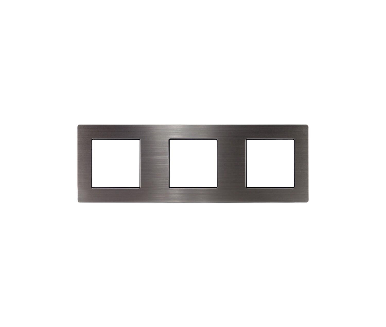 3 Gang stainless steel frame
