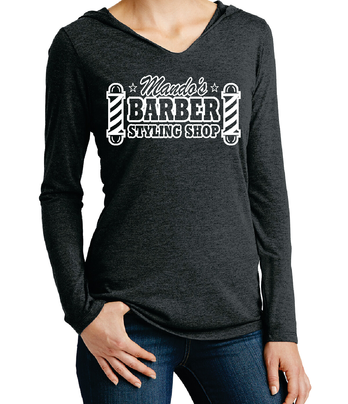 Mando's Barber Shop Women's Soft Long Sleeve Hoodie