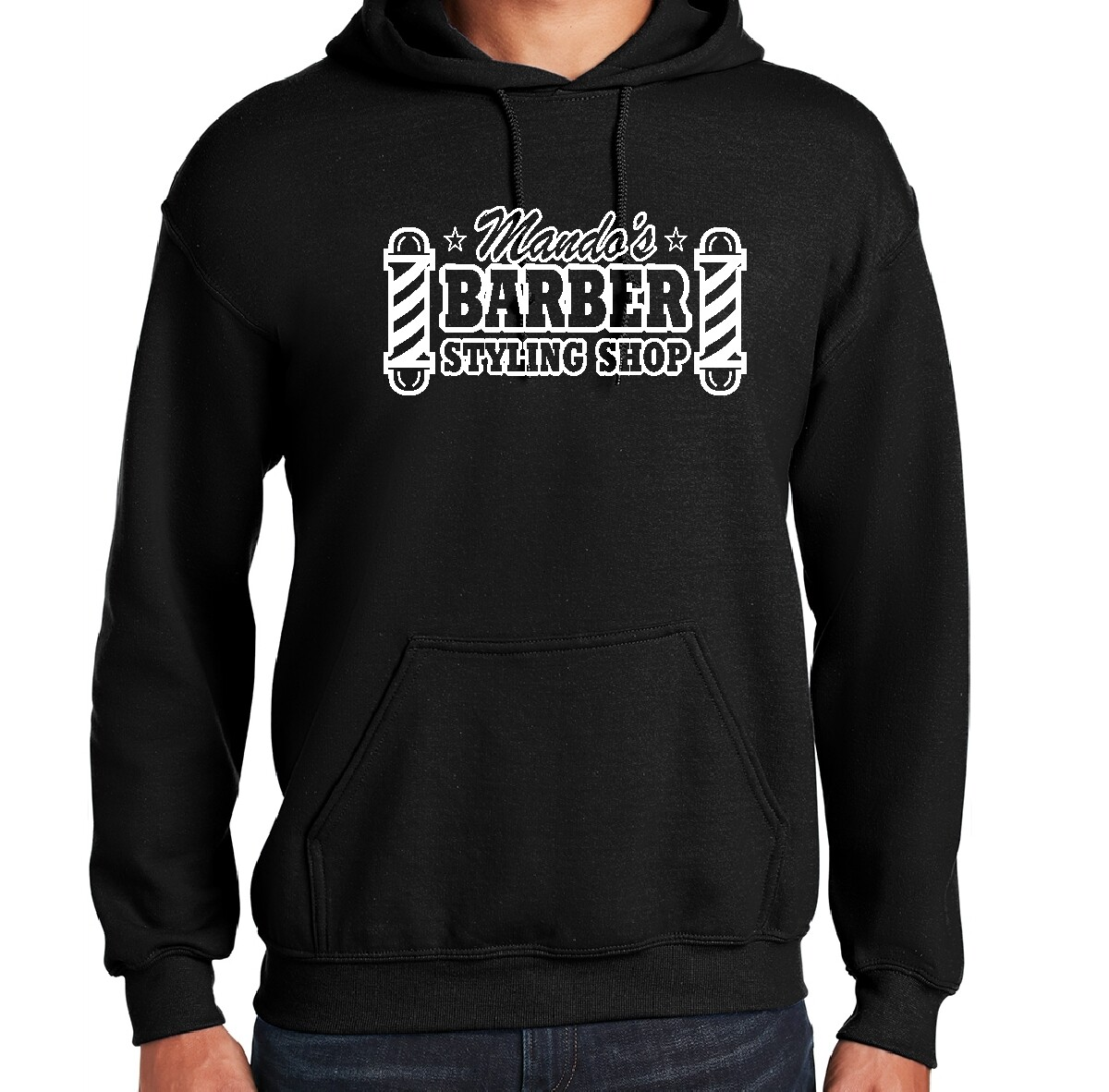 Mando's Barber Shop Hoodie