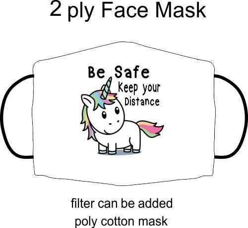 Unicorn Be safe mask