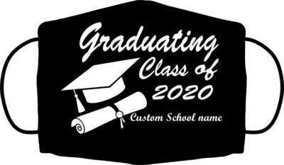 Custom Graduation Mask Black