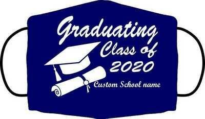 Custom Graduation Mask navy blue
