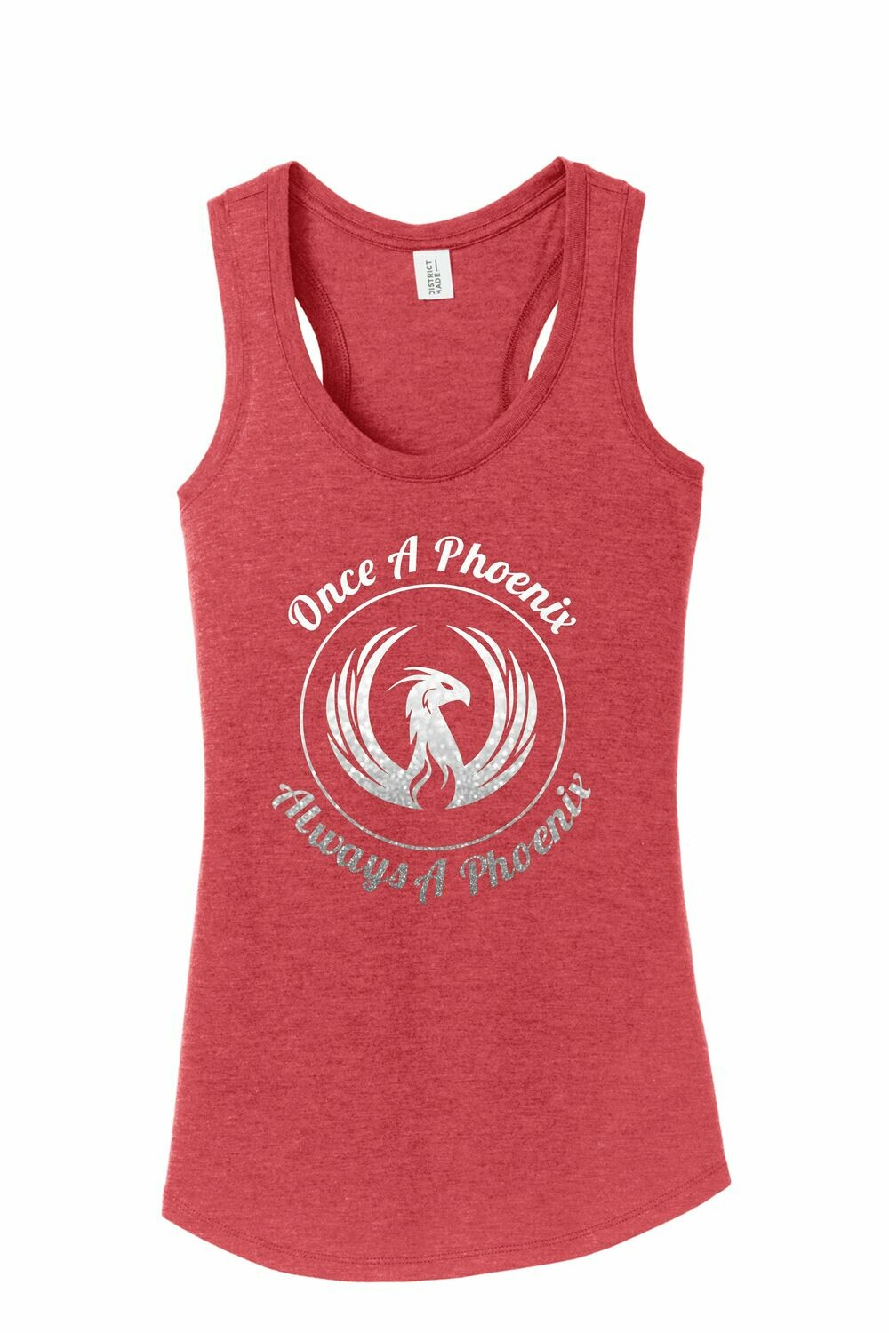 Circle Red Frost Ladies Tank