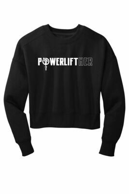NEW! Powerlifther Ladies Cropped Crewneck