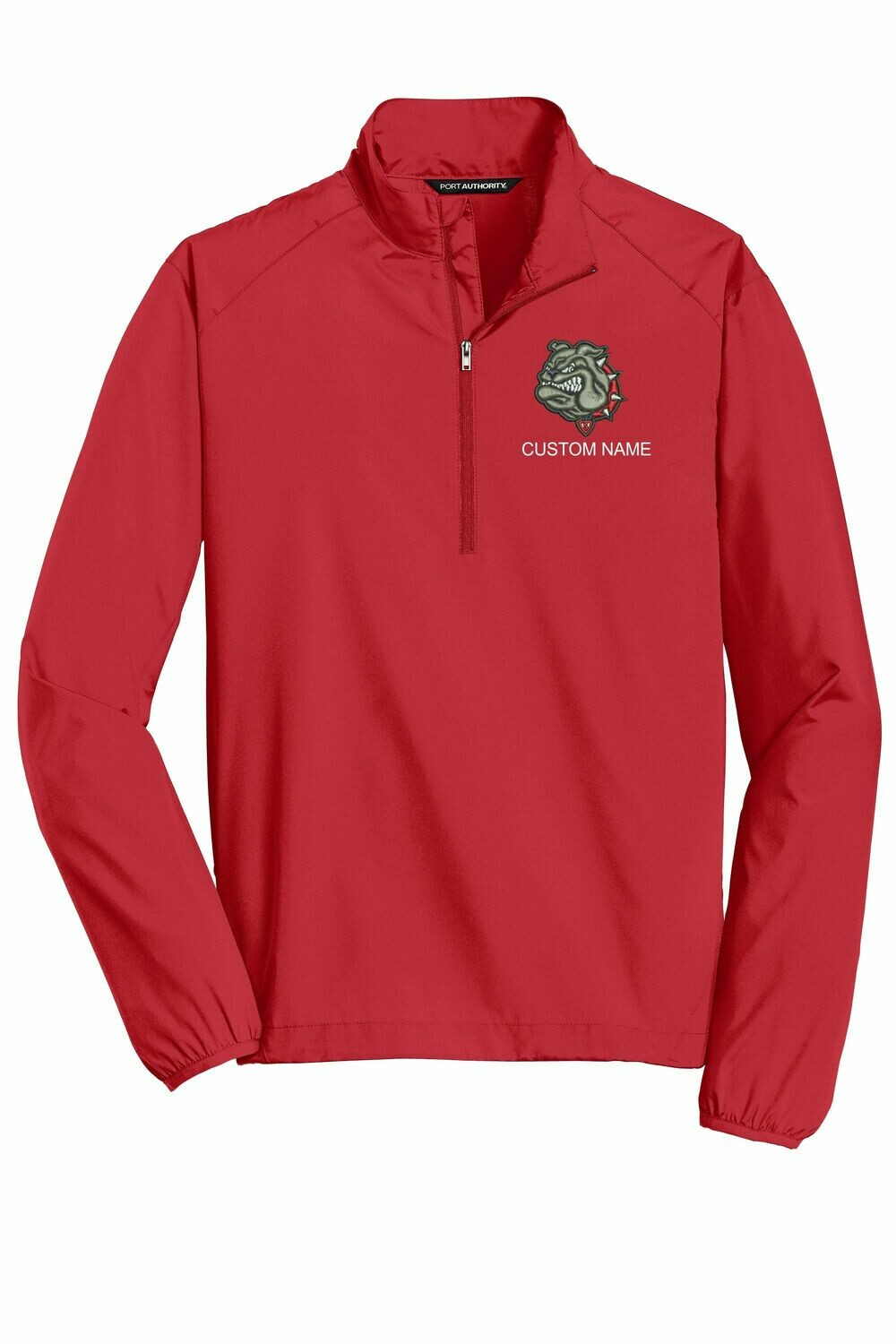 Embroidered Half Zip