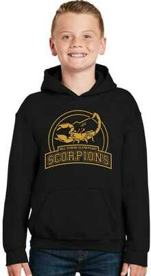 Scorpion Hoodie black/  Purchase Supports Pinkout