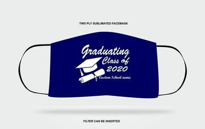 Custom Graduation Mask navy blue
