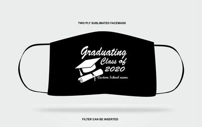 Custom Graduation Mask Black